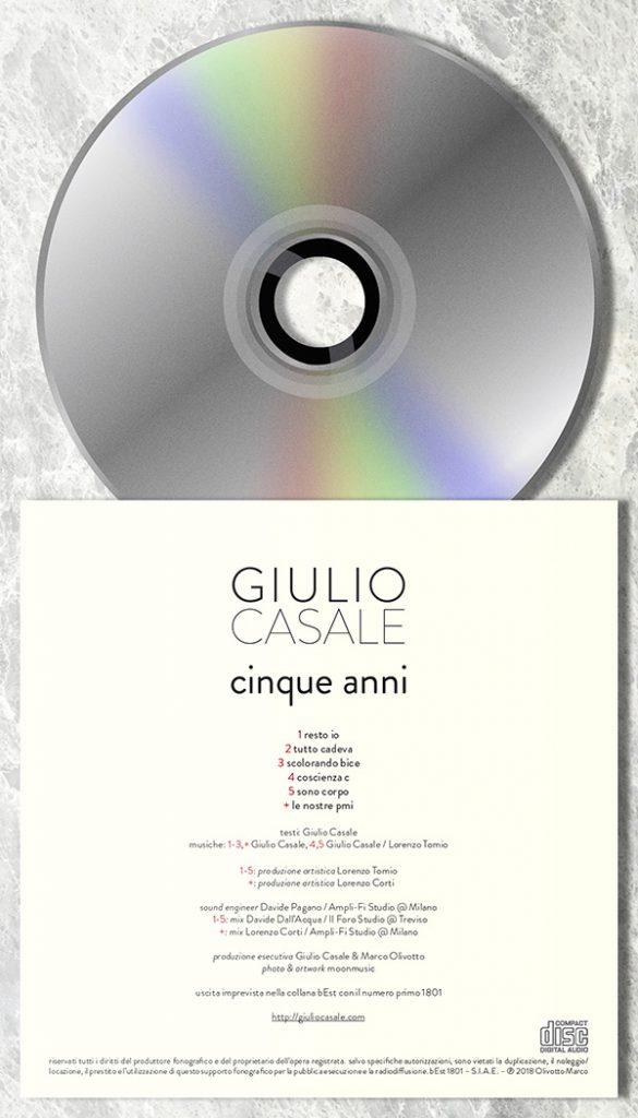 """""""cinque anni"""" – versione CD"""